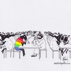 nakedpastor: graffiti artist on the walls of religion by nakedpastor Sheep Cartoon, Minecraft Banner Designs, Lgbt Memes, Lgbt Love, Battle Royale, Christian Memes, Cute Gay, Funny Texts, My Images