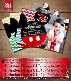 HUGE SELECTION Chevron Mickey Mouse Invitation Mickey