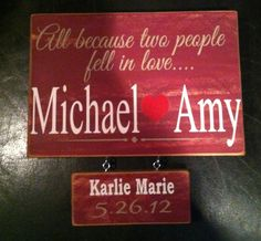 Custom family sign...great way to add more babies Www.facebook.com/Dingbatsanddoodles