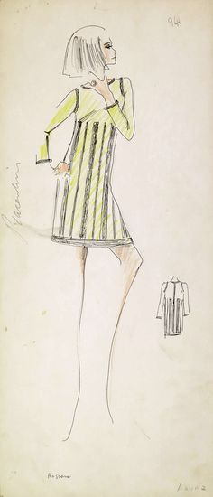 Original Karl Lagerfeld Fashion Drawings | From a unique collection of antique and modern drawings at http://www.1stdibs.com/furniture/wall-decorations/drawings/