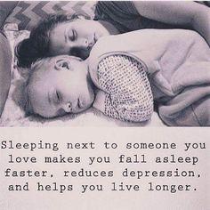 Sleeping next to someone you love...