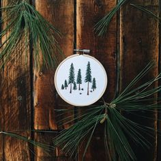 Pine Tree Embroidery Hoop by MaddieMadeThis on Etsy https://www.etsy.com/listing/258806206/pine-tree-embroidery-hoop