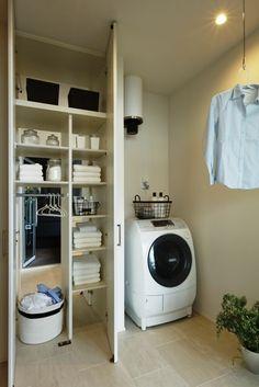 家事室 Stacked Washer Dryer, Washer And Dryer, Laundry Room, Home Appliances, Interior, House, Design, Life, Houses