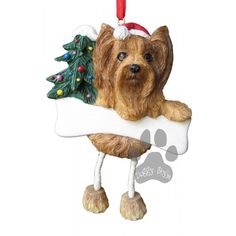 Dangling Leg Yorkie Yorkshire Terrier Dog Christmas Ornament http://doggystylegifts.com/products/dangling-leg-yorkie-yorkshire-terrier-dog-christmas-ornament