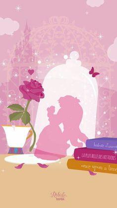 Natacha Birds - La belle et la bête - Disney Kunst, Disney Art, Disney Movies, Disney Pixar, Disney Magic, Disney Dream, Disney Mignon, Natacha Birds, Iphone Hintegründe