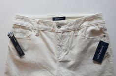 NEW Bandolino Women's 5 Pocket Corduroy Pants Creme Color Straight Leg Size 6 #Bandolino #Corduroys