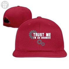 Trust Me I'm An Engineer Baseball Snapback Cap Red (*Amazon Partner-Link)