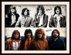 Jimmy Page, Robert Plant, John Bonham & John Paul Jones | Led Zeppelin 1969/1979