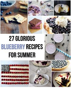 27 Glorious Blueberry Recipes For Summer. For my blueberry-pickin friends! Angel Food Cake Desserts, Just Desserts, Food Cakes, Keto Desserts, Dessert Recipes, Blueberry Recipes, Blueberry Ideas, Blueberry Trifle, Blueberry Mojito