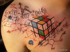 tattoo~Ok, not something I want, this just represents exactly what I think about solving a Rubik's Cube, lol! It really does take rocket science!