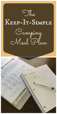 """Don't spend your camping trip always cooking! Here are great menu-planning tips to """"keep-it-simple"""" on long camping trips."""