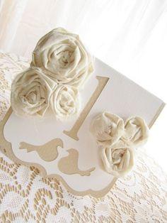 Wedding Table Numbers  Vintage Inspired by milkdustcreations, $8.25