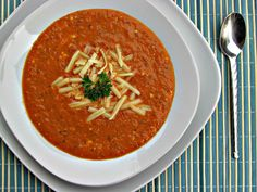Roasted Red Pepper, Tomato and Smoked Gouda Bisque | Peace Love and Low Carb