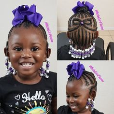 Braided Hairstyles For Kids: 43 Hairstyles For Black Girls - - hairstyles for poodie - Toddler Braided Hairstyles, Childrens Hairstyles, Lil Girl Hairstyles, Girls Natural Hairstyles, Natural Hairstyles For Kids, Natural Hair Styles, Fashion Hairstyles, Hairstyles Pictures, African Hairstyles