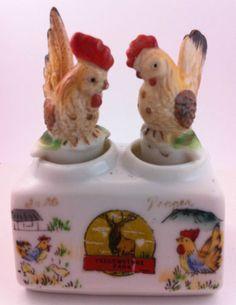 Vintage Yellowstone Park Ceramic Nodder Salt & Pepper Shakers – Free Shipping!
