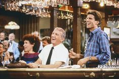 """It's been 30 years since the premiere of """"Cheers,"""" the NBC sitcom centered on a Boston bar where everybody know your name. Sam Malone (Ted D. Best Series, Best Tv Shows, Best Shows Ever, Favorite Tv Shows, Tv Series, Cheers Theme, Cheers Tv, Ally Mcbeal, Little Britain"""