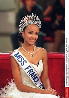 Sonia Rolland, Miss France 2000.-- Sonia Rolland, Miss France 2000. #beautiful brown black queens girl in Paris #Eiffel tower
