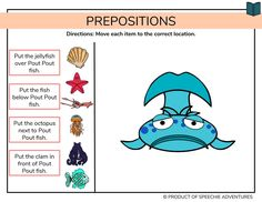 Retelling Activities, Speech Therapy Activities, Learning Activities, Speech Language Therapy, Speech And Language, Speech Pathology, Language Arts, Pout Pout Fish, Prep Book