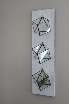 Planters glass Set Of 3 Hanging Planters Geometric Glass Terrarium Wall Mounted Air Plant Succulent Holder Indoor Planter Vertical Garden Rustic Boho Decor Modern Stained Glass, Faux Stained Glass, Stained Glass Projects, Stained Glass Patterns, Small Terrarium, Glass Terrarium, Succulent Terrarium, Glass Boxes, Glass Garden