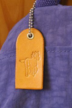 Handmade Bag Charm, Leather Bag Charm, Horse Bag Charm, Horse Purse Charm. Repin To Remember.