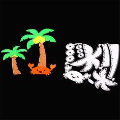 Pas cher Mer plage de noix de coco arbre crabe métal de coupe dies set pour photo album DIY papier cartes faire scrapbooking coco decoratived CDK344, Acheter  Matrices à découper de qualité directement des fournisseurs de Chine:Mer plage de noix de coco arbre crabe métal de coupe dies set pour photo album DIY papier cartes faire scrapbooking coco decoratived CDK344