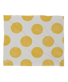Look at this Spring Yellow Dots Fleece Throw on #zulily today!