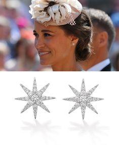 Shop the Robinson Pelham Tsar Stud Earrings as seen on Pippa Middleton Pippa Middleton Style, Royal Style, Royal Fashion, Stud Earrings, Crown, Shop, Jewelry, Corona, Jewlery