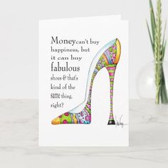 Happy Birthday Wishes Cards, Birthday Cards For Women, Funny Birthday Cards, Plant Design, Custom Greeting Cards, Zazzle Invitations, Artwork Design, Card Sizes, Thoughtful Gifts