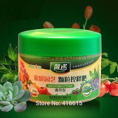 Alta Calidad Gránulos de Fertilizante de liberación Lenta de Fertilizantes de Liberación Adecuado para Plantas de Flor Del Jardín Vegetal Fruta 250g