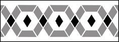 Budget Diamonds stencils, stensils and stencles