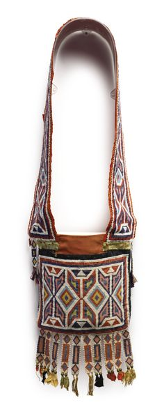 Winnebago Beaded Cloth Bandolier Bag, Great Lakes Area | Lot | Sotheby's