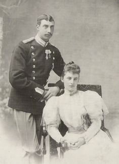 Engagement photo of Prince Christian of Denmark, and Duchess Alexandrine of Mecklenburg-Schwerin. He was the eldest son of King Christian IX of Denmark.