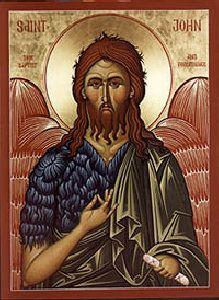 John the Forerunner Orthodox Icon Orthodox Catholic, Orthodox Christianity, Religious Icons, Religious Art, Greek Icons, Religion, Byzantine Icons, John The Baptist, Art Icon