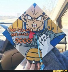 Anyone that is graduating and knows dragonball z will understand this #dragonballz #over9000 #vegeta #princeofallsayians