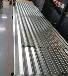 Corrugated Galvanized Roof Sheets Rolled out Roof Sheets, Wood, Woodwind Instrument, Timber Wood, Wood Planks, Trees, Woodworking, Woods