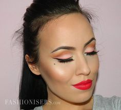 Modern Pin Up Makeup Tutorial - Fashion Trends, Makeup Tutorials, Hairstyles and Style Secrets