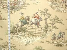 Horse riding fabric equestrian tan toile fishing from Brick House Fabric: Novelty Fabric Pattern mix, bed large bolster