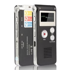 TopYart Rechargeable 8GB Digital Audio Dictaphone MP3 Player Digital Voice Recorder