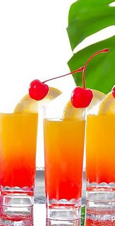 Mini Tequila Island Sunrise Shooter