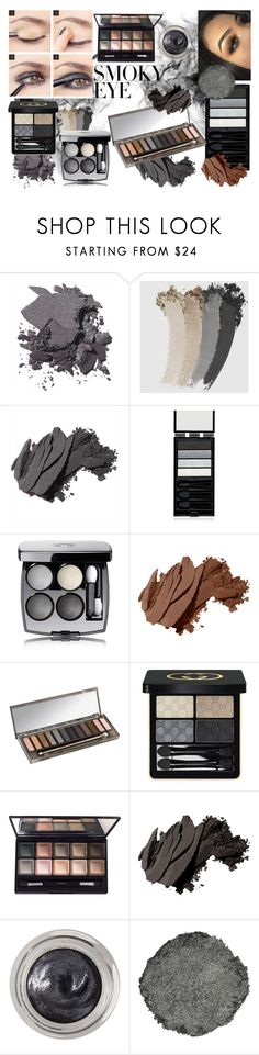 """smoky eye"" by crz963 ❤ liked on Polyvore featuring beauty, Bobbi Brown Cosmetics, Gucci, Serge Lutens, Chanel, Urban Decay, By Terry, Estée Lauder, Illamasqua and eyeshadow"