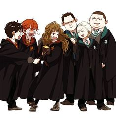 harry potter, draco malfoy, and hermione image Harry James Potter, Harry Potter Anime, Harry Potter Hermione, Harry Potter Fan Art, Hermione Granger, Mundo Harry Potter, Harry Potter Drawings, Harry Potter Universal, Harry Potter Fandom