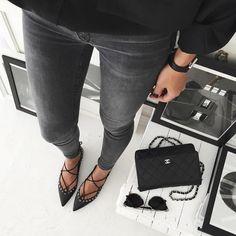 Le parfait total look noir #187 (instagram Golestaneh)