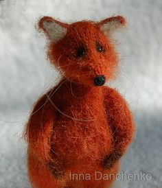 Knitted Red Fox Soft Toy - made to order