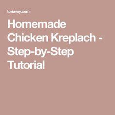 Homemade Chicken Kreplach - Step-by-Step Tutorial