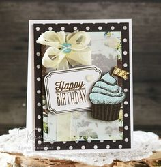 Birthday card by Laurie Schmidlin using Small Packages from Verve.  #vervestamps