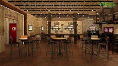 Clásico #Bar Arquitectónico #interiores #Diseño Por Yantram