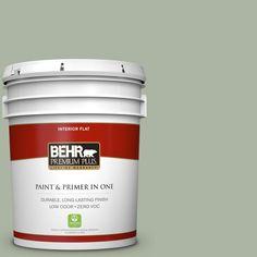 BEHR Premium Plus 5-gal. #430E-3 Laurel Mist Zero VOC Flat Interior Paint