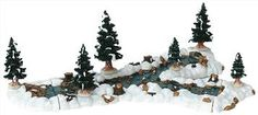 Lemax Christmas Village Mill Stream Fork for sale online Vail Village, Lemax Village, Christmas Village Display, Christmas Villages, Christmas Shopping, Christmas Home, Halloween Village, Crafts For Seniors, Christmas Accessories