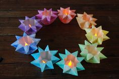 Watch Youtube: Waldorf Star Lantern, and see how you make this beautiful stars.