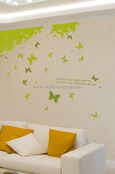 Butterfly Forest Wall Decals – WallDecalMall.com